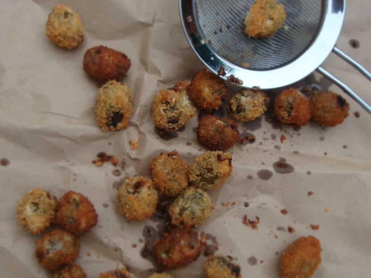 Crispy Sausage Stuffed Olives