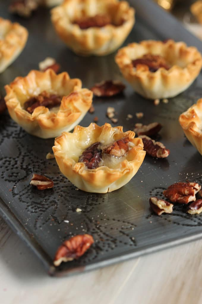Pecan Brie and Brown Sugar Phyllo Bites | The Suburban Soapbox
