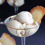 Coffee Ice Cream with Vanilla Bean Tuiles