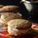 Snickerdoodle Sandwich Cookies with Eggnog Buttercream