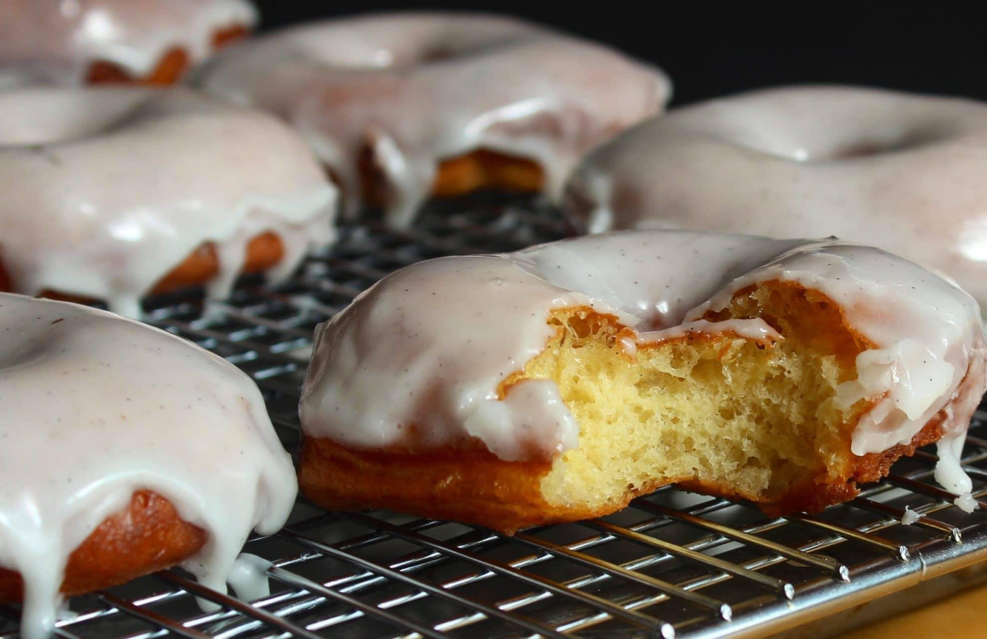 Glazed Vanilla Bean Doughnuts