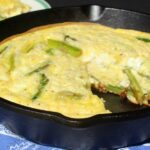 Ham, Asparagus and Goat Cheese Frittata