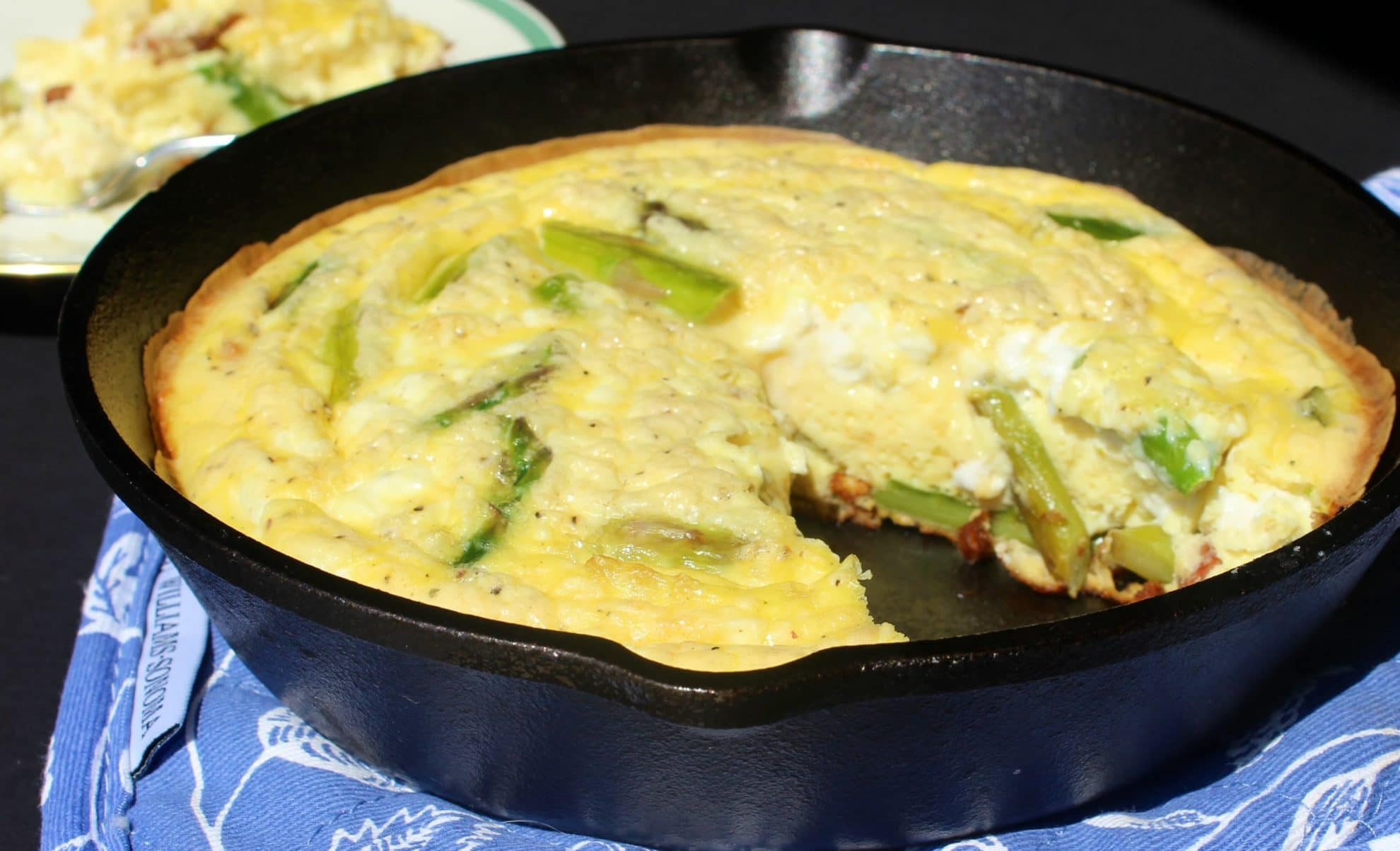 Ham Asparagus and Goat Cheese Frittata