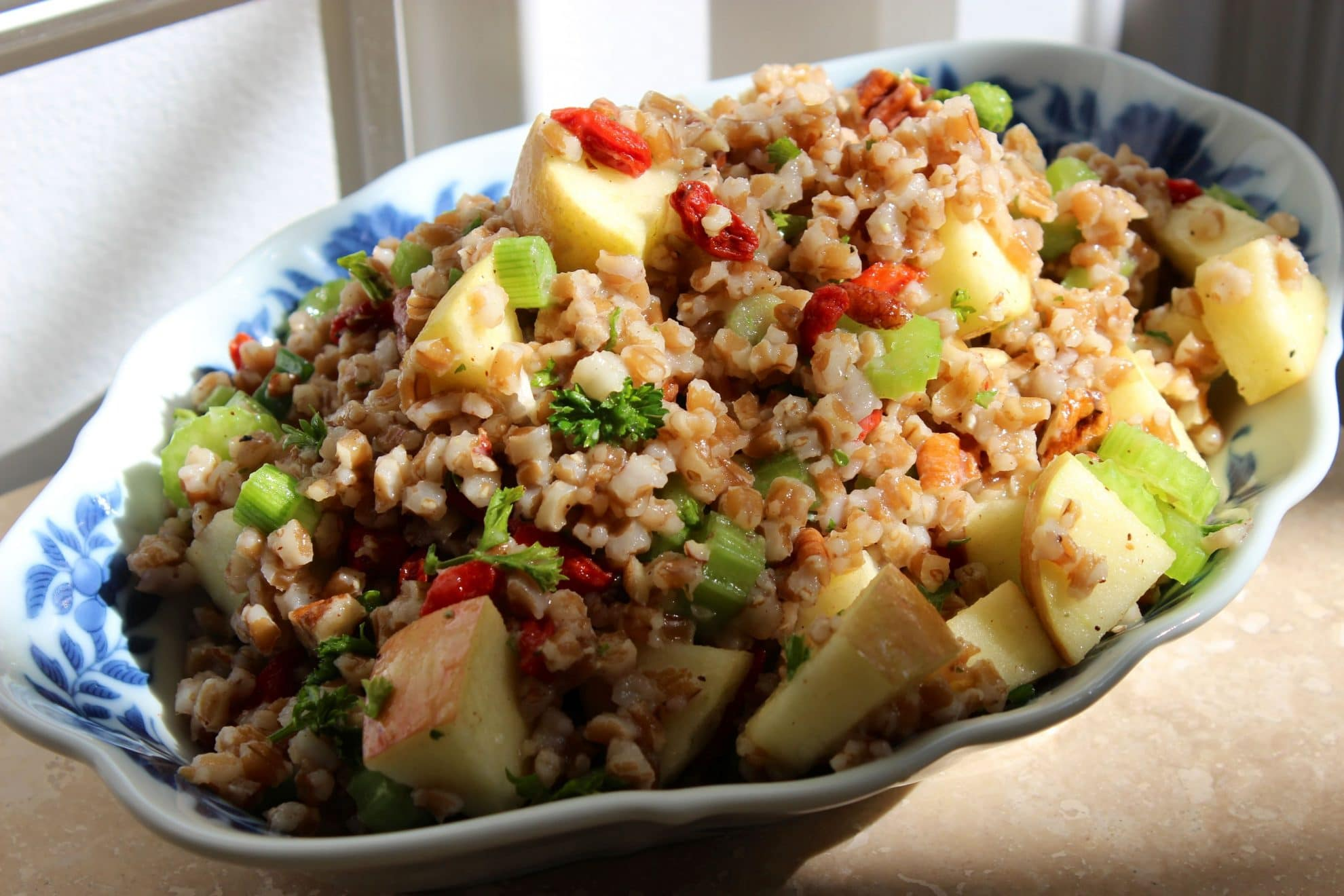 Wheat Berry Waldorf Salad with Citrus Vinaigrette