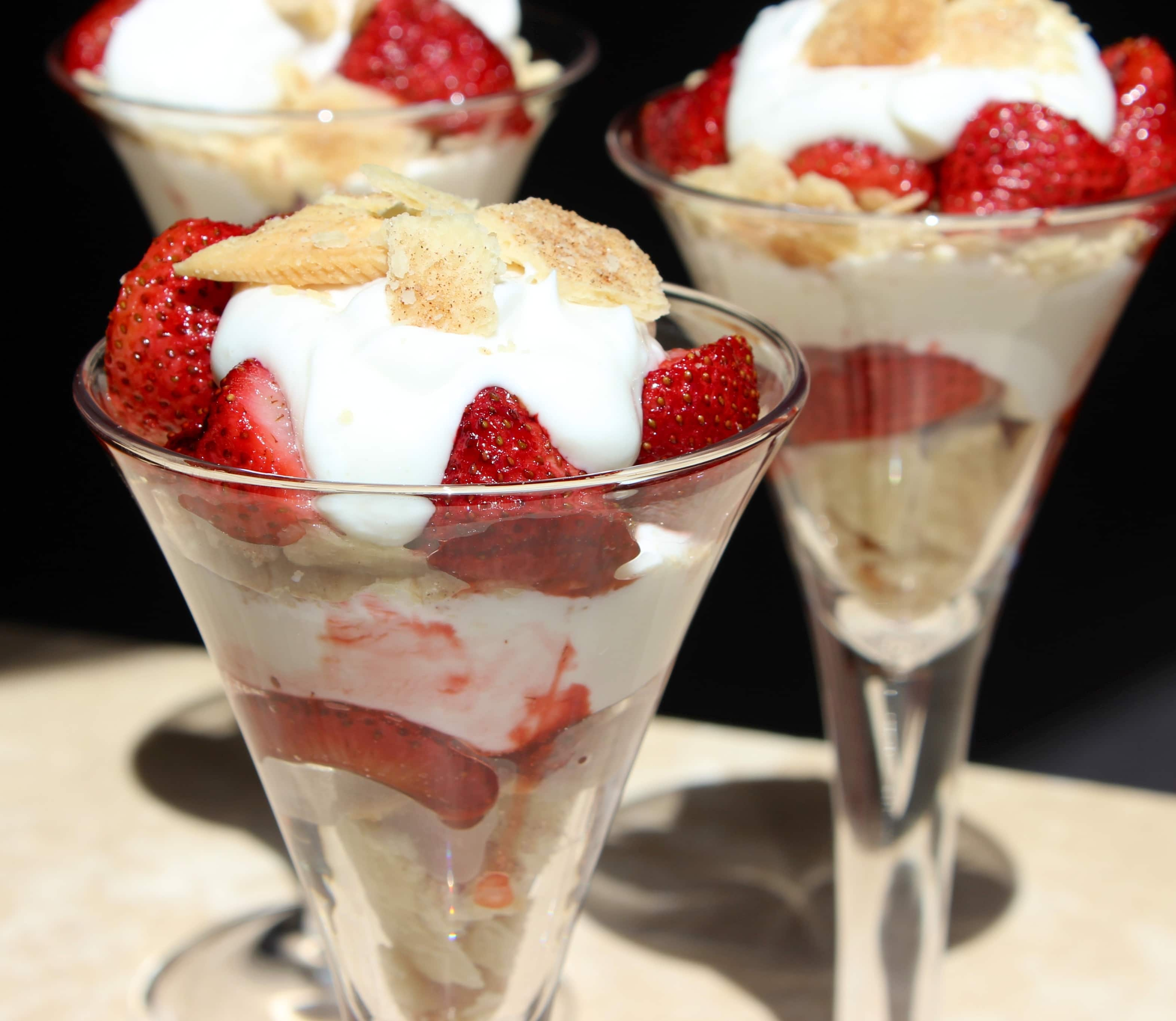 Roasted Strawberry Pie Parfait
