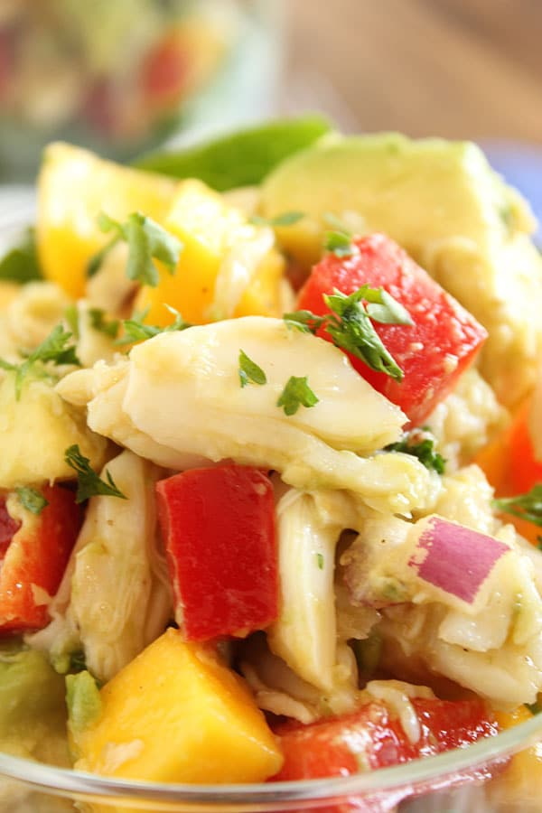 Crab Mango and Avocado Salad | The Suburban Soapbox #paleo #crab #salad