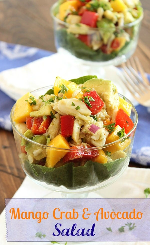 Crab Mango and Avocado Salad | The Suburban Soapbox #paleo #crab # ...