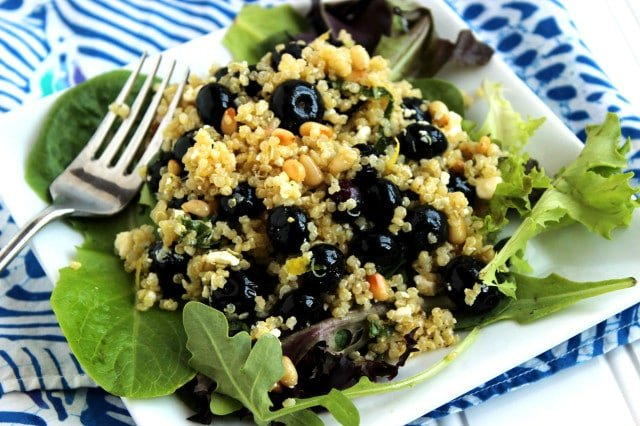 Blueberry Feta and Quinoa Salad | The Suburban Soapbox #salad #quinoa #glutenfree