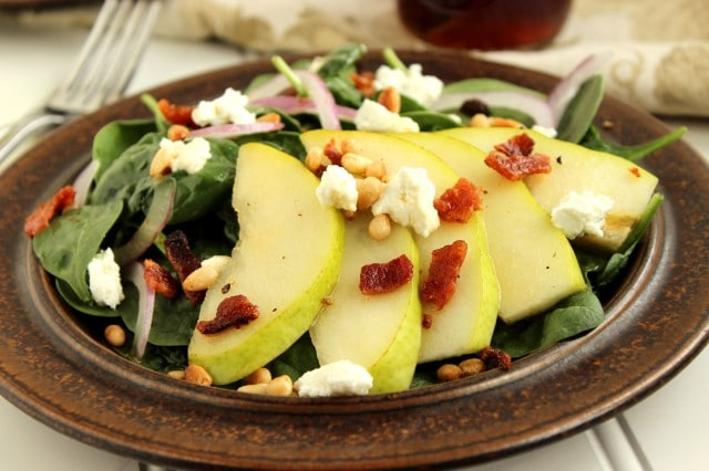 Pear and Spinach Salad