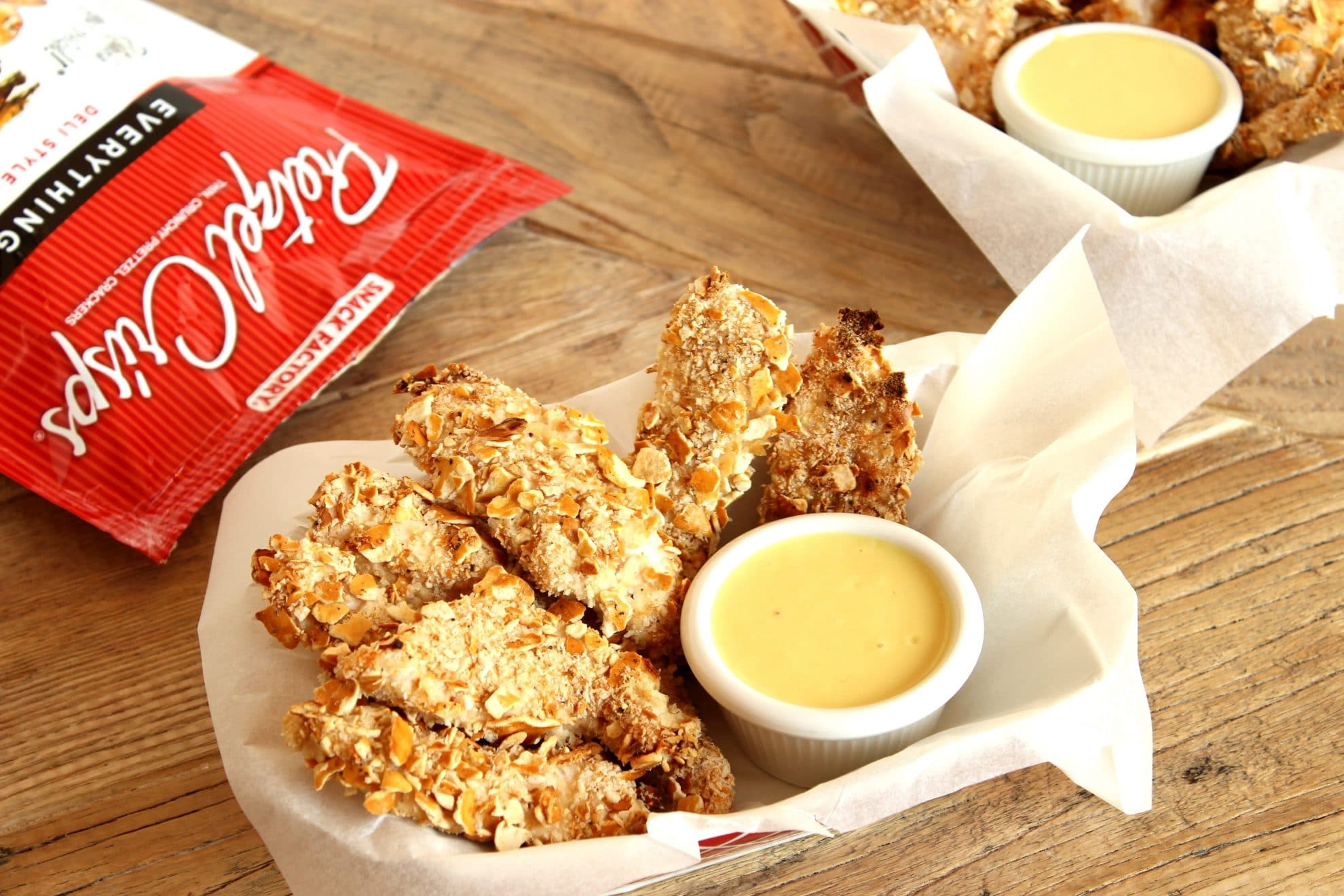 Pretzel Crusted Chicken Fingers with Apple Cider Honey Mustard Sauce ...