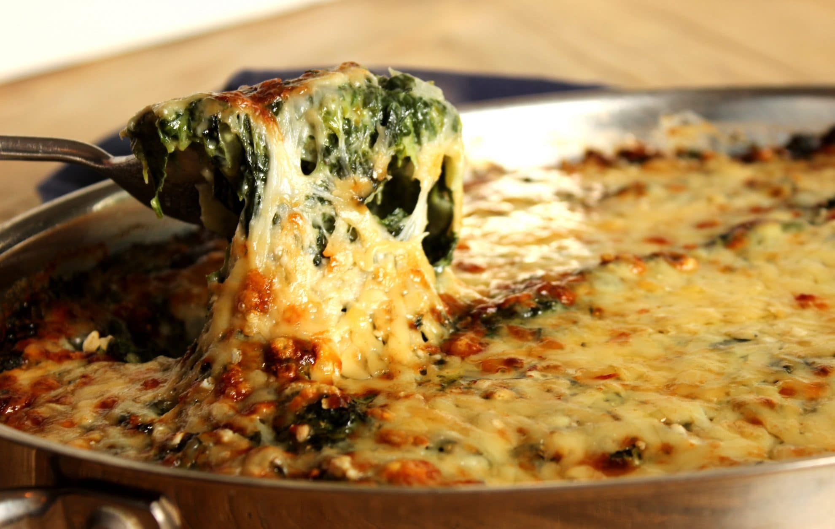 Cheesy Spinach Gratin
