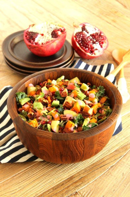 Havest Chopped Salad with Creamy Cranberry Shallot Dressing