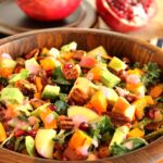 Harvest Chopped Salad with Creamy Cranberry Shallot Dressing