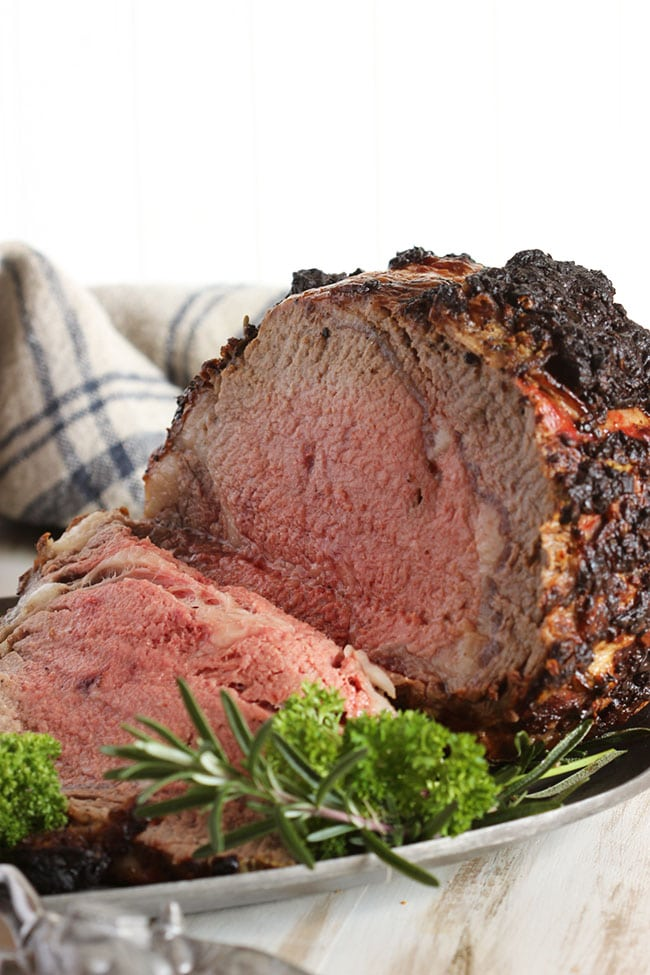 Herb Crusted Standing Rib Roast With Mustard Horseradish