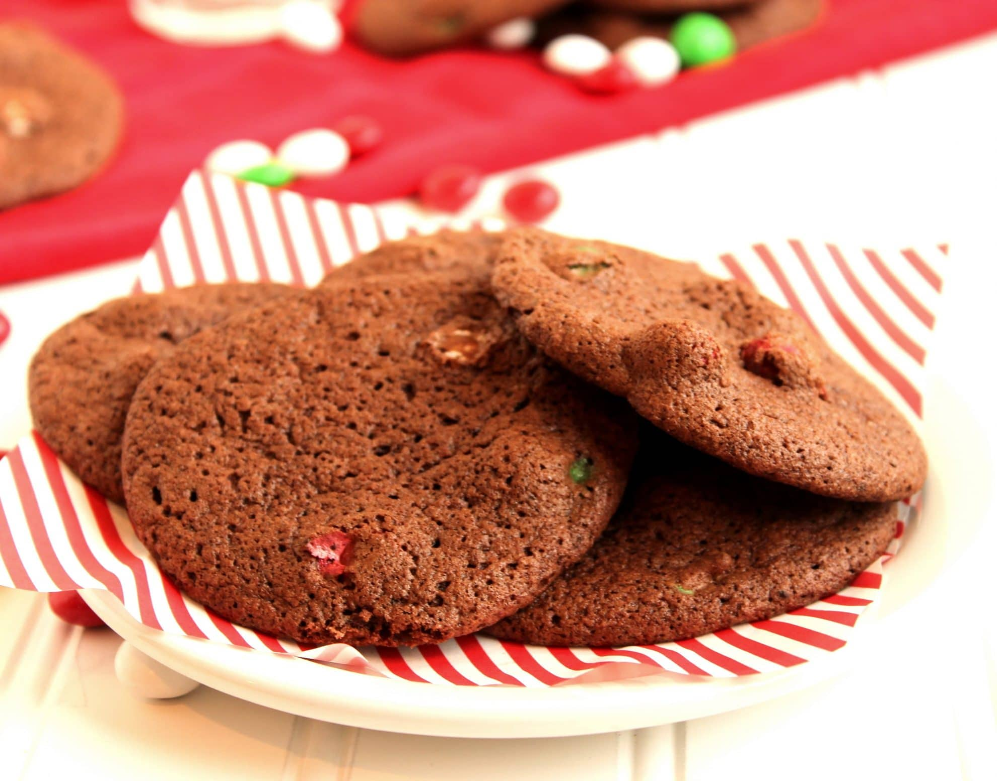 Mocha Brownie and Mint M&M Cookies