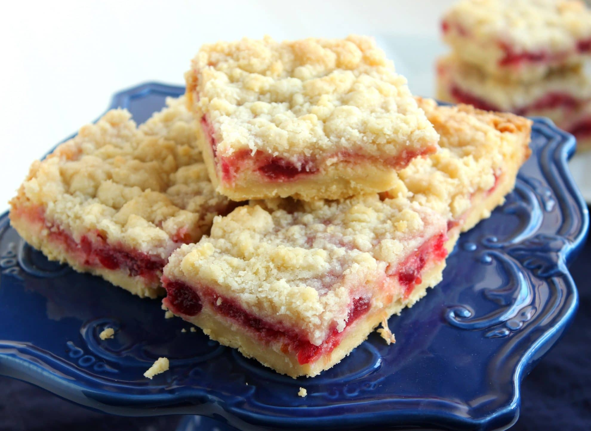 Cranberry Cream Cheese Streusel Bars - The Suburban Soapbox