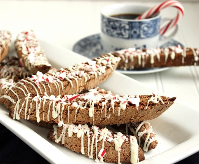 White Chocolate Peppermint Mocha Biscotti - The Suburban Soapbox