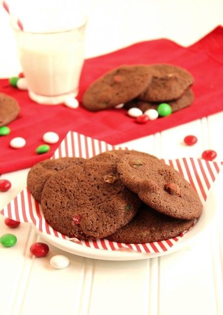 Mocha Brownie and Mint M&M Cookies | The Suburban Soapbox