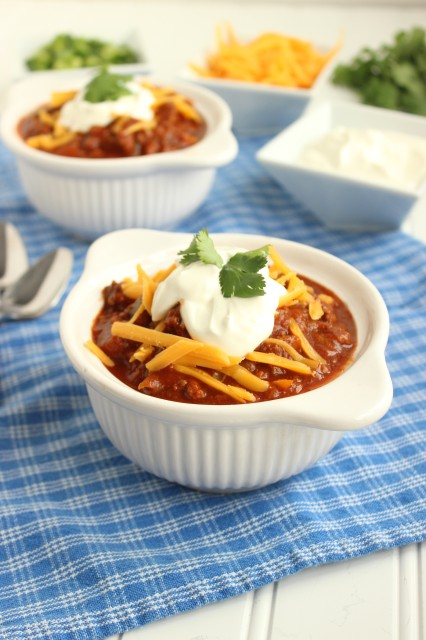 slow cooked chili with hints of sweetness and a bit of heat. This is ...