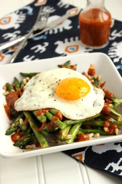 Warm Asparagus Salad with Roasted Tomato Vinaigrette - The Suburban Soapbox