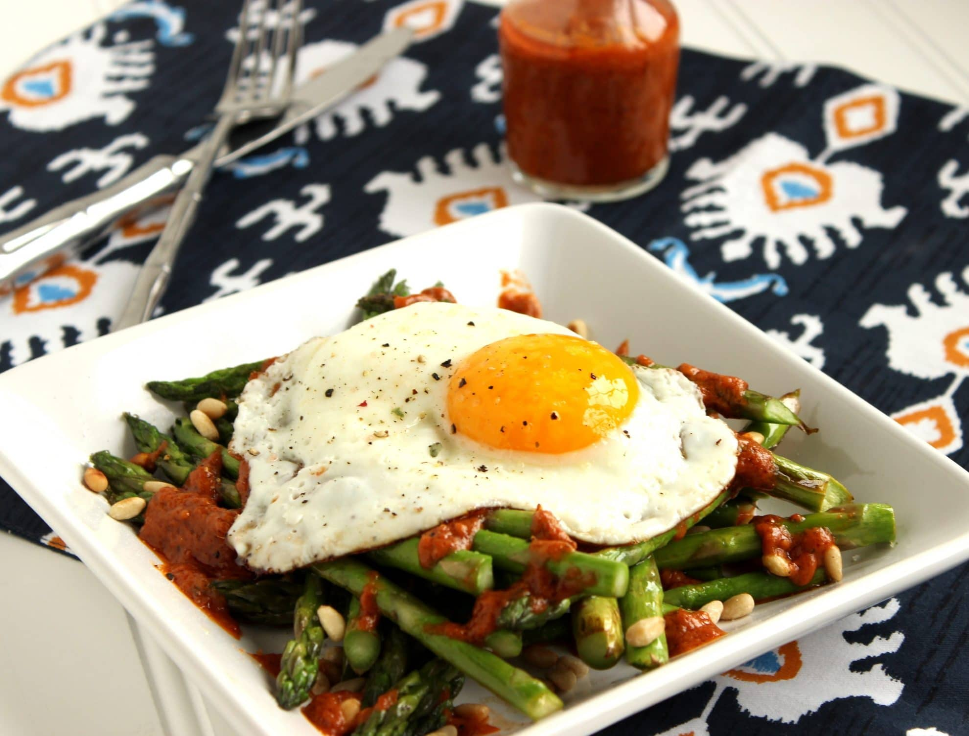 Warm Asparagus Salad with Roasted Tomato Vinaigrette - The Suburban Soapbox