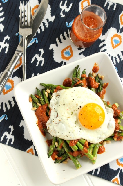 Warm Asparagus Salad with Roasted Tomato Vinaigrette - The Suburban ...