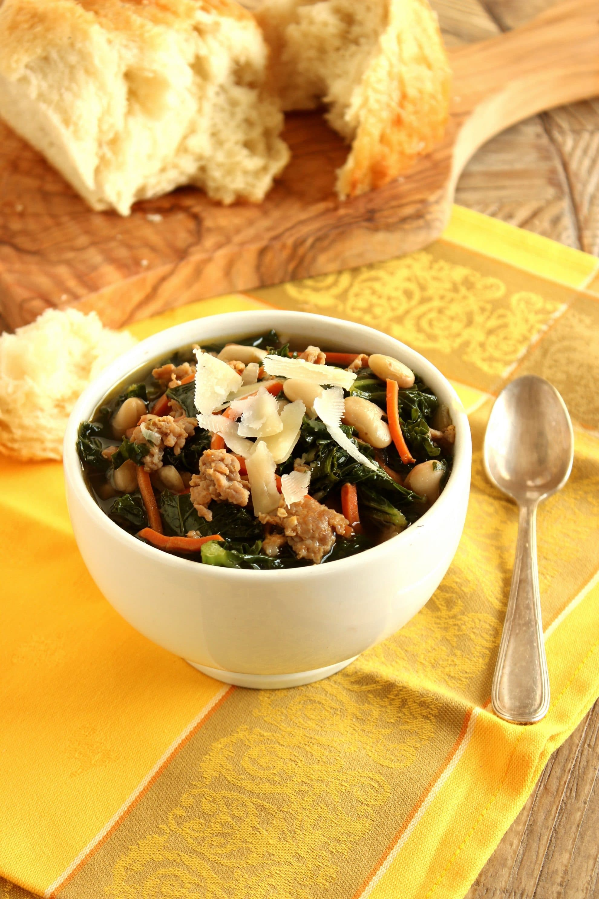 ... recipes hearty winter soup sausage kale and white bean soup home is
