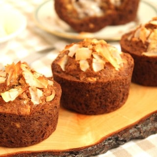 Gluten-Free Coconut Banana Hazelnut Muffins