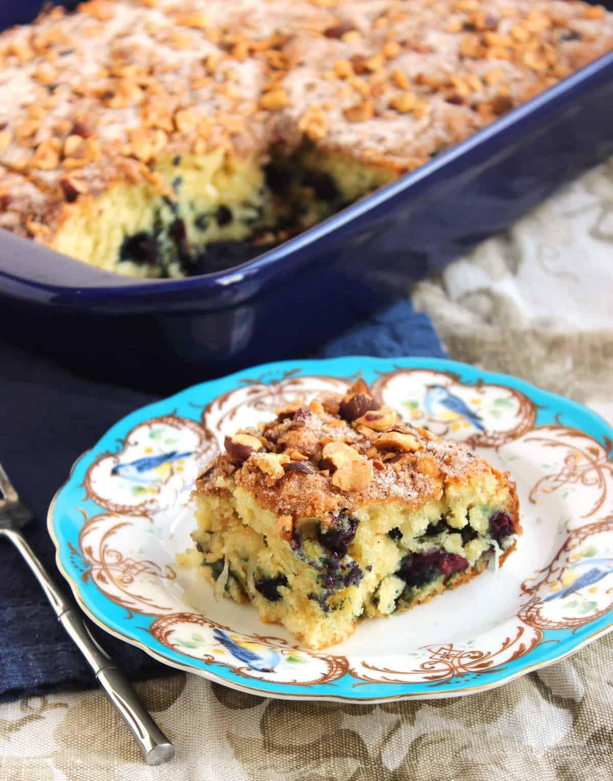 Blueberry coconut yogurt coffee cake and a food blogger cookbook blueberry coconut yogurt coffee cake the suburban soapbox forumfinder Images