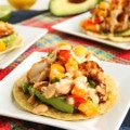 Grilled Shrimp Tostadas with Mango Salsa and Chipotle Cream