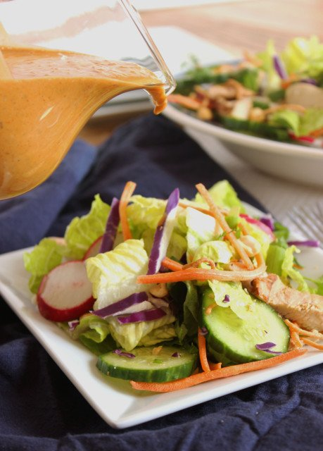 Thai Chicken Salad with Spicy Peanut Dressing | The Suburban Soapbox