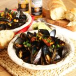 Corona Steamed Mussels with Corn and Chorizo | The Suburban Soapbox