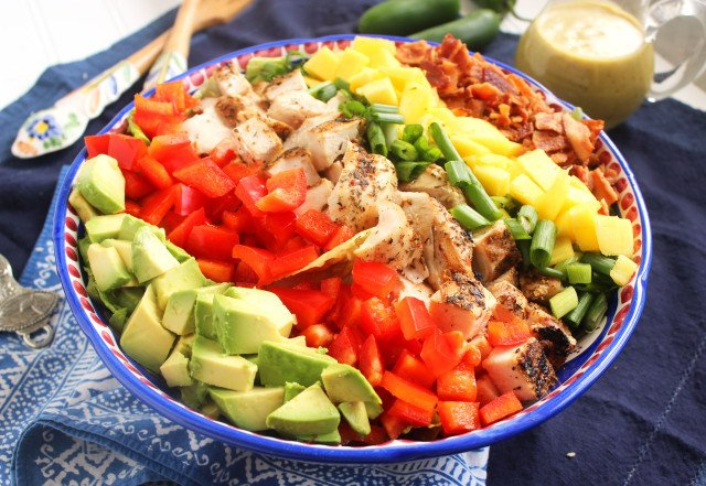 Caribbean Cobb Salad with Fire-Roasted Vinaigrette | The Suburban Soapbox