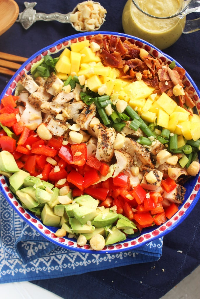 Caribbean Cobb Salad with Fire Roasted Pineapple Vinaigrette | TheSuburbanSoapbox.com
