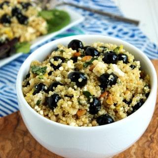 Blueberry Feta Quinoa Salad | The Suburban Soapbox