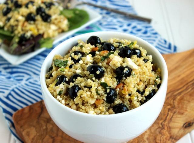 Blueberry Feta Quinoa Salad   The Suburban Soapbox