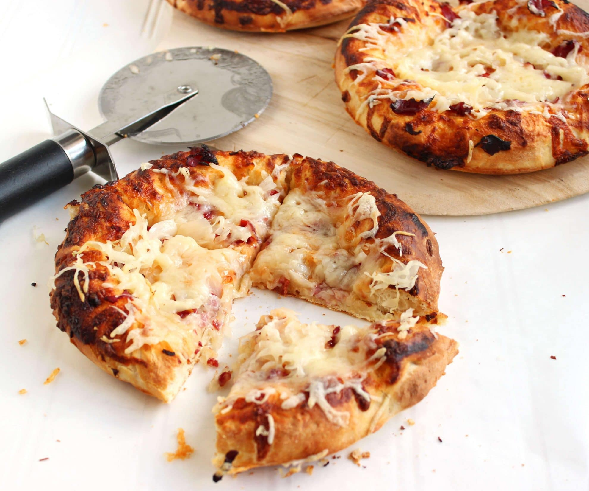 Personal Reuben Pizzas