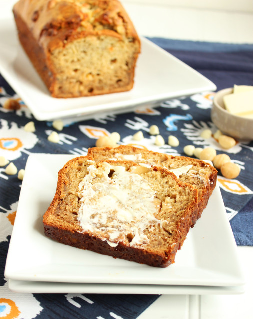 White Chocolate Macadamia Banana Bread | The Suburban Soapbox