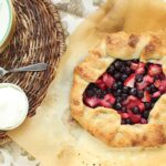 Berry Rhubarb Crostata with Vanilla Bean Whipped Cream | The Suburban Soapbox