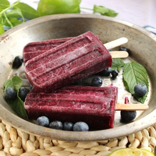 Blueberry Mojito Popsicles