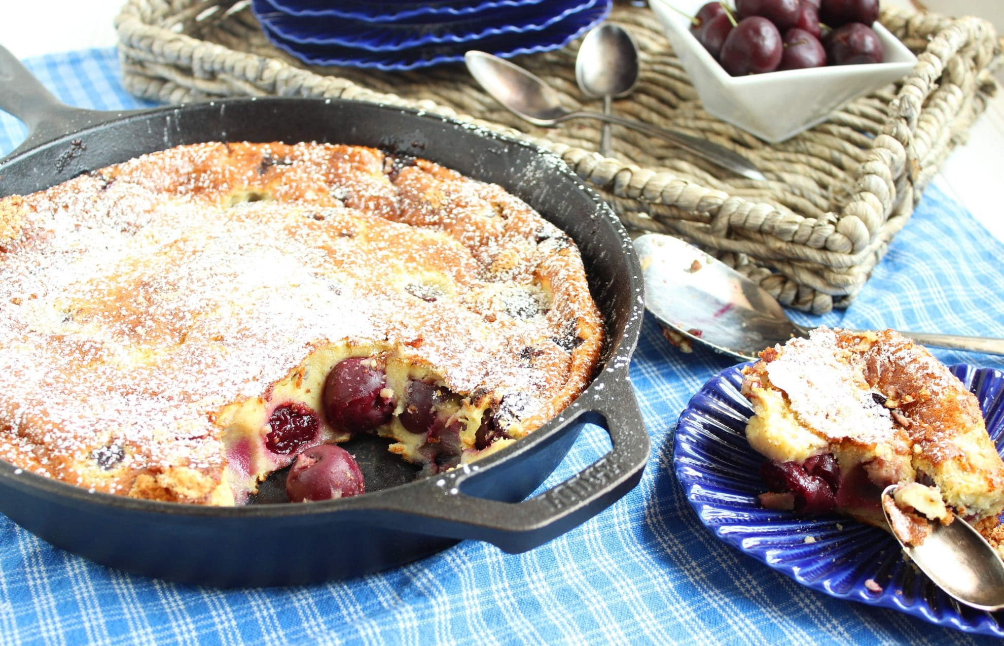 Cherry Almond Clafoutis - The Suburban Soapbox