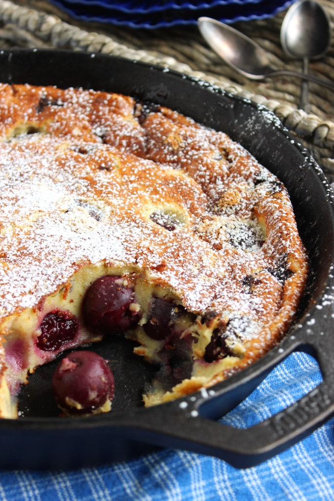 Cherry Almond Clafoutis | The Suburban Soapbox