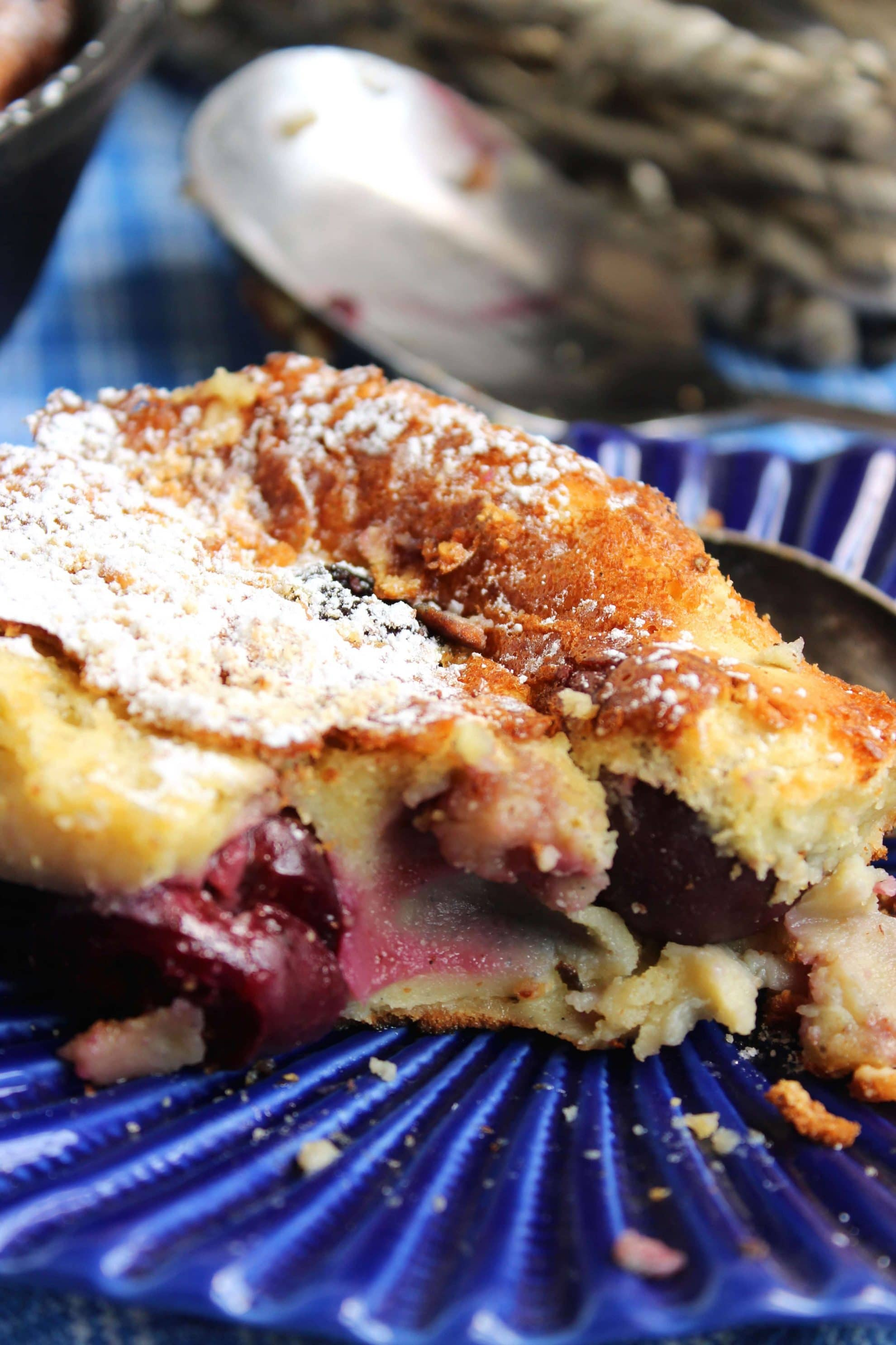 almond clafoutis cherry almond clafoutis breakfast cherry almond so ...