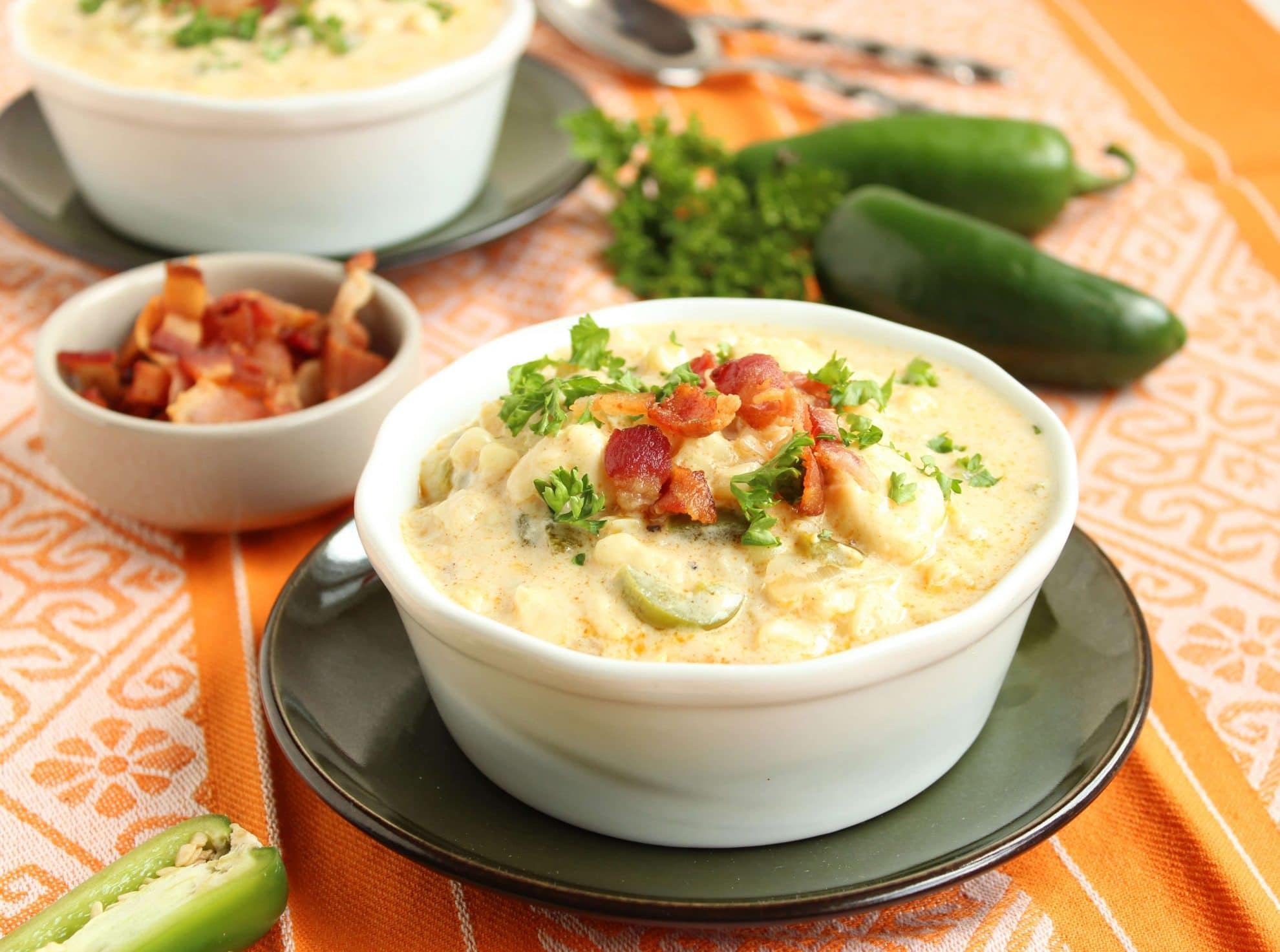 Spicy Corn Chowder with Bacon - The Suburban Soapbox
