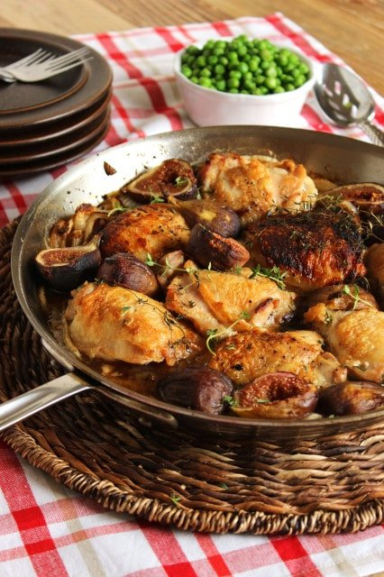 Pan Roasted Crispy Chicken Thighs with Figs | The Suburban Soapbox