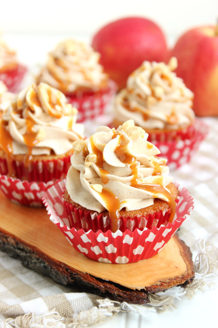 Caramel Apple Cupcakes with Cinnamon Buttercream | The Suburban Soapbox