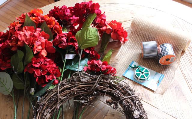 Fall Hydrangea Wreath