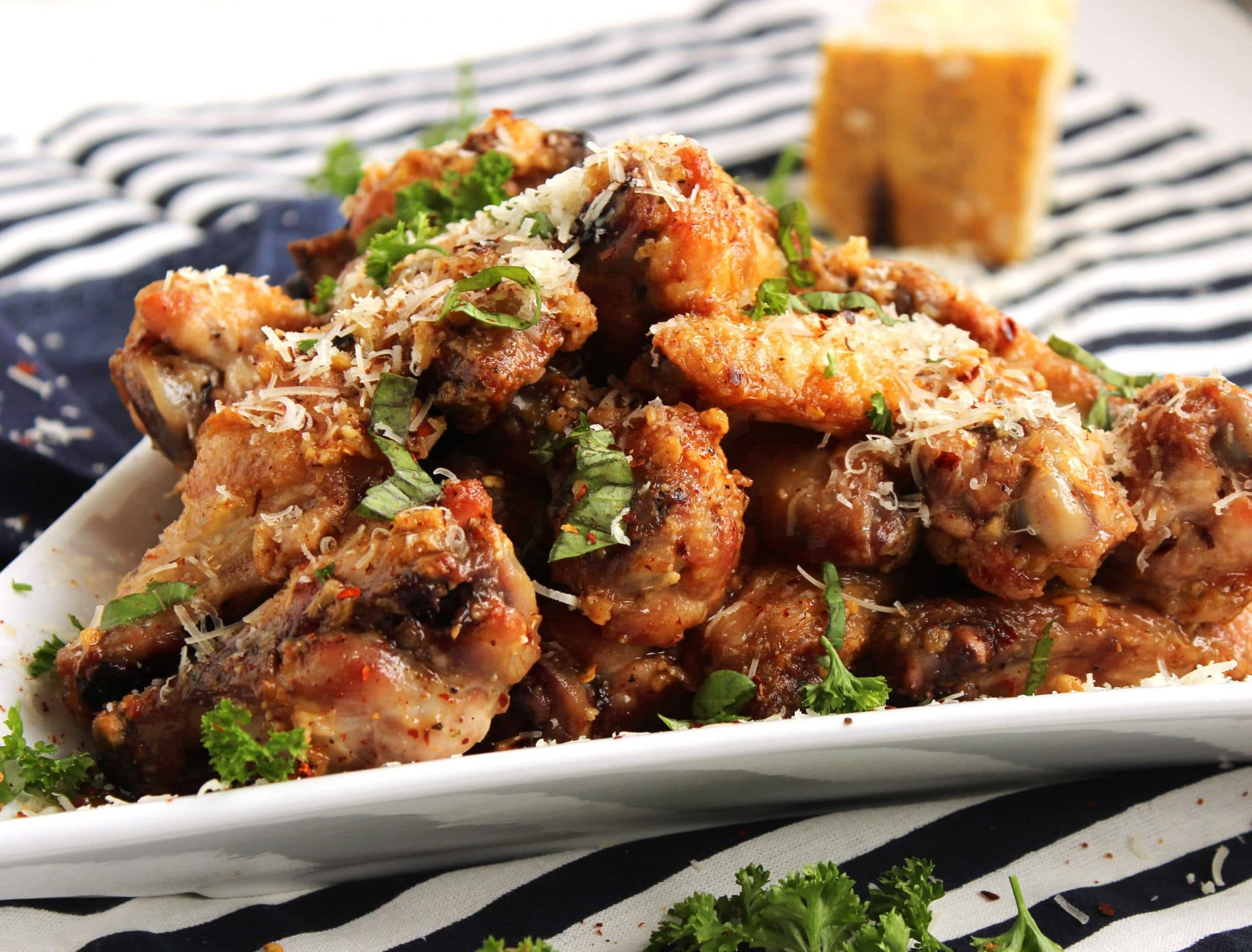 Baked Garlic-Parmesan Wings - The Suburban Soapbox