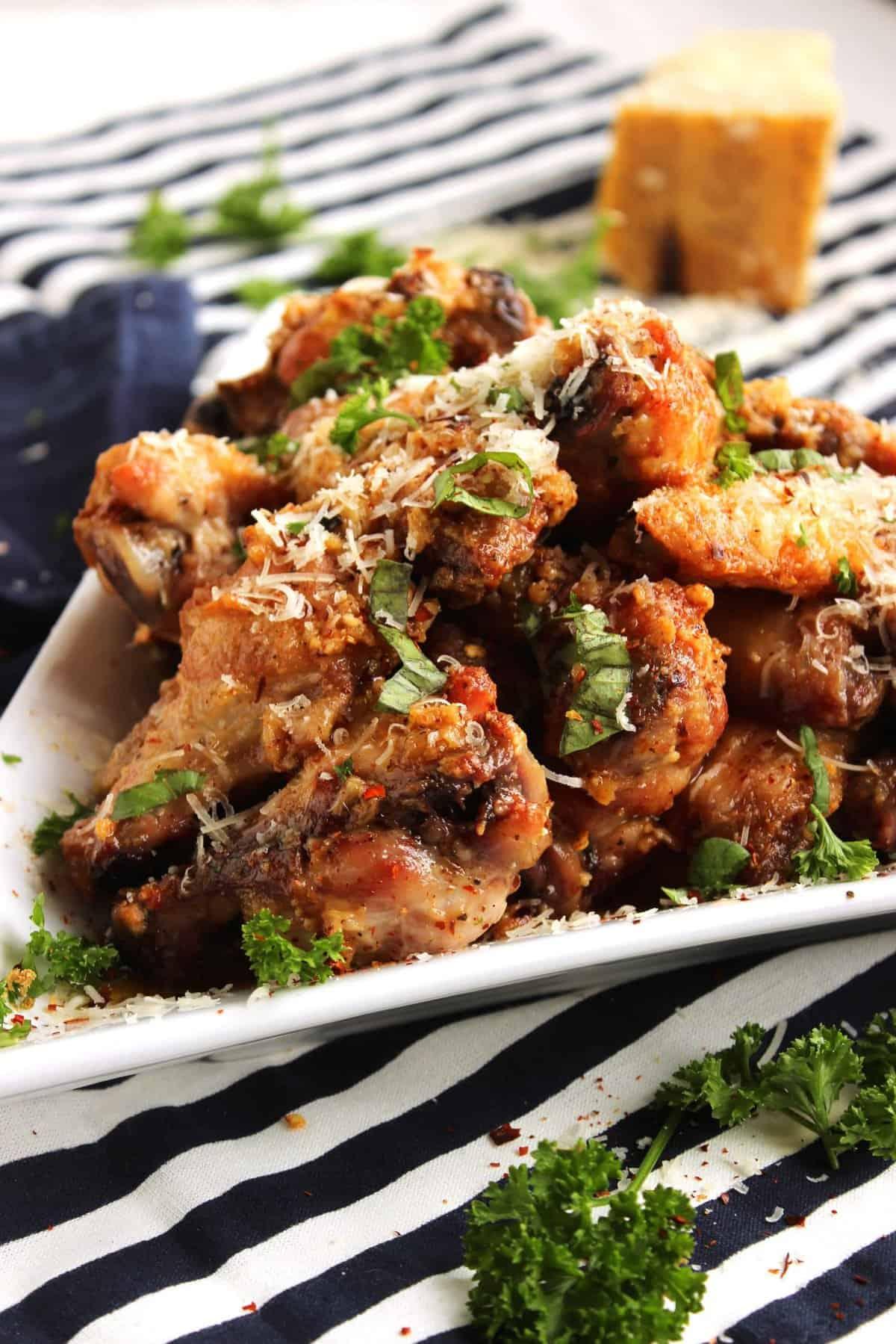 Baked Garlic Parmesan Wings | The Suburban Soapbox