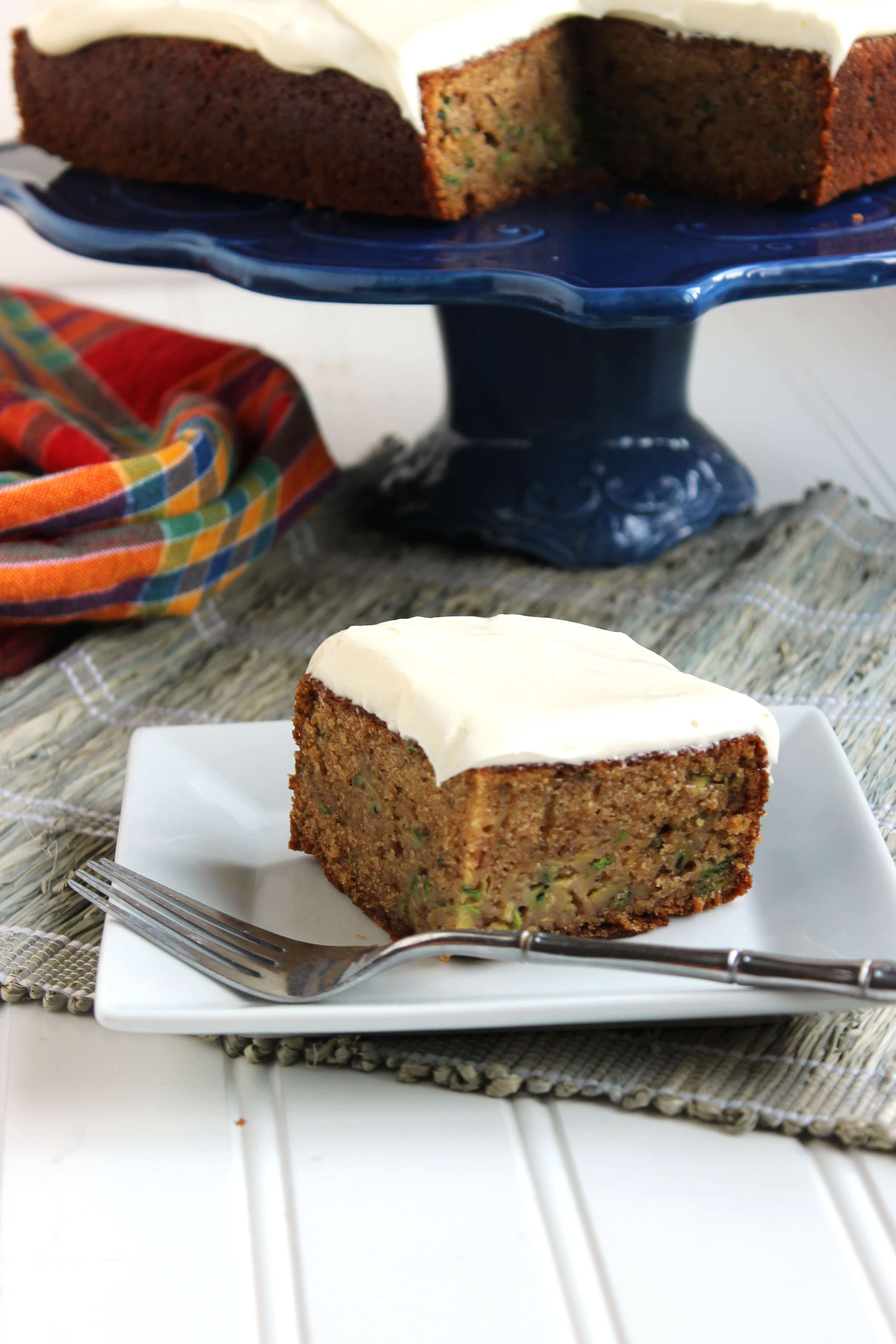 Spiced Zucchini Cake with White Chocolate Cream Cheese Frosting | The ...